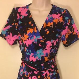 Beautifully Bright Floral Wrap Dress
